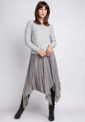 Sweter MKMSwetry Chloe SWE 091 szary