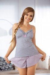 Piżama damska Babella Sorbet 3057-2 Szaro-różowa