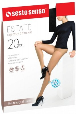 Rajstopy damskie Estate XL 20 DEN Sesto Senso