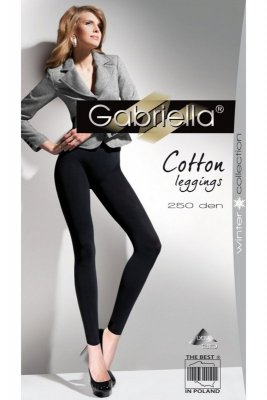 Leginsy Gabriella 179 cotton 250 nero