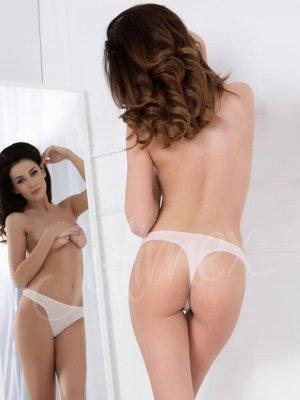 Stringi Julimex String Panty Beżowe