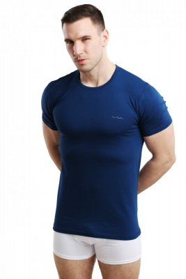 Koszulka męska Rneck granatowa Pierre Cardin