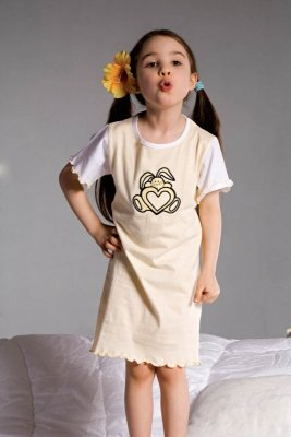 Piżamka dziewczęca Piccolo Meva Ami 2981 żółta