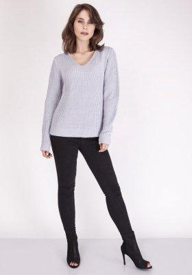 Sweter damski MKM Victoria SWE 123 Jasny szary