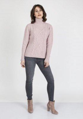 Sweter damski MKM Estelle SWE 121 Pudrowy róż