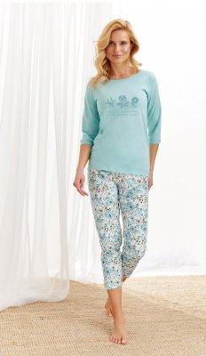 Piżama damska Taro Nina 2234 AW/20 - Kolor 01 - Miętowo-biały