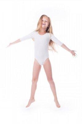 Body gimnastyczne lycra (B7) rękaw 3/4 Shepa