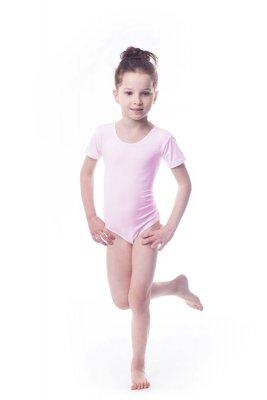 Body gimnastyczne lycra (B15) krótki rękaw Shepa