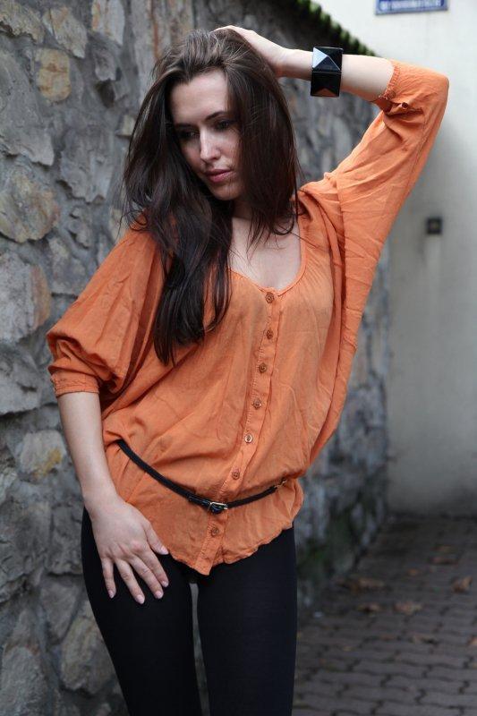 Bluzka Giulia pomarańczowa