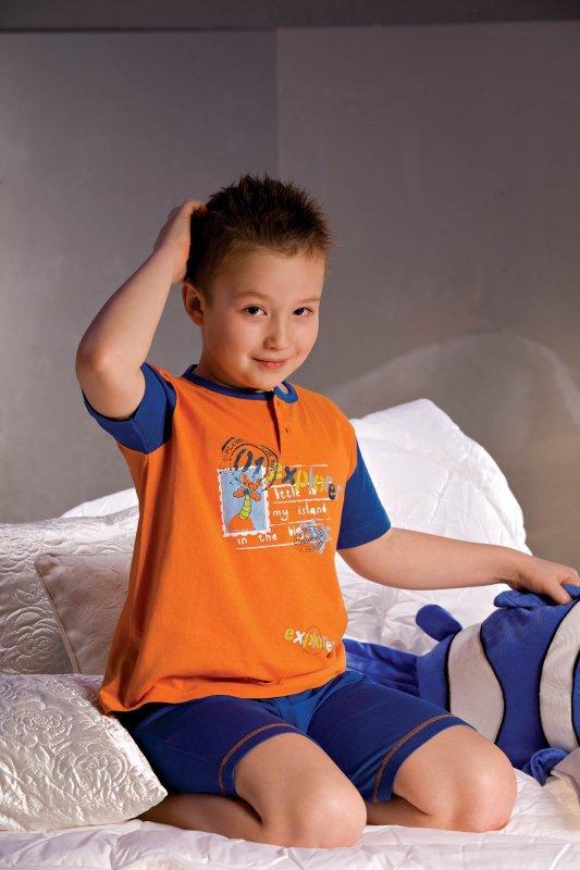 Piżamka chłopięca Filip 2972 granatowo-pomarańczowa