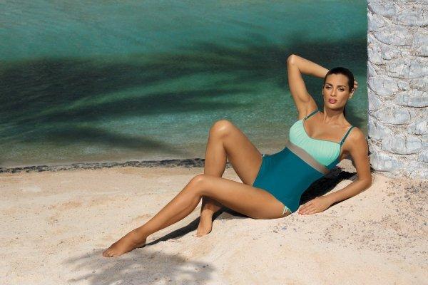 Marko Whitney Curacao-Fata-Fango M-253 Morsko-błękitny (223) Kostium kąpielowy