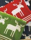 Klippan, pled z bawełny organicznej, moose, 140x90cm, czerwony