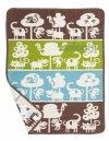 Klippan, pled z bawełny organicznej, 70x90cm,Safari, nieb-brązowy