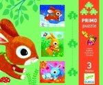 Djeco, puzzle progresywne zajączki, 3 plansze