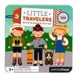 Petit Collage, układanka magnetyczna, dziewczynki w podróży