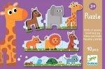 Djeco, puzzle tekturowe, Małe i Duże, długie na 1m