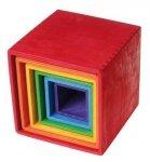 Zestaw pudełek w intensywnych kolorach, 0+, Grimm's