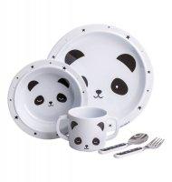 ALLC, zestaw obiadowy, panda, 5 el.