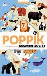 Poppik, wielki plakat wyklejanka, 67 naklejek, zwierzęta świata
