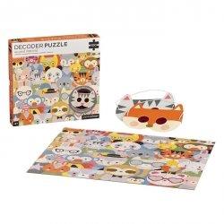 Petit Collage, puzzle dekoder, zwierzęta