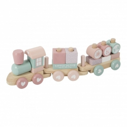 Little Dutch, pociąg różowy, 45cm