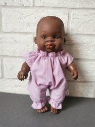 Olimi, ubranko dla lalki Miniland 21cm, różowe prążki