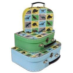 Rex London, zestaw 3 walizeczek, dinozaury