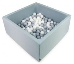 Aja baby, suchy basen kwadratowy, +250 piłeczek, 90x90x40cm, różne kolory