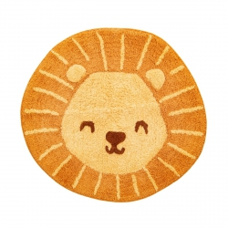 sassandbell, bawełniany dywanik, lew