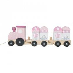 Jabadabado, drewniany pociąg różowy