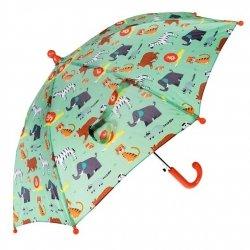 Rex london, parasol dziecięcy, zwierzątka, zielony