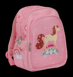 ALLC, plecak różowy z koniem,