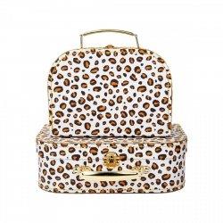 Sasandbell, zestaw 2 walizeczek, leopard