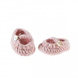 Olimi, szydełkowe buciki dla lalki 38cm, pink nude