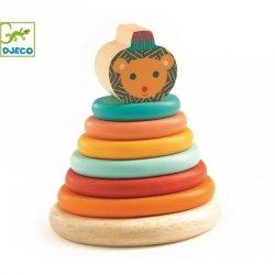 Djeco, drewniana piramida z lwem,