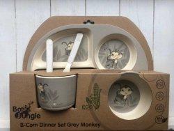 Bo Jungle, zest naczyń bambusowych, małpka