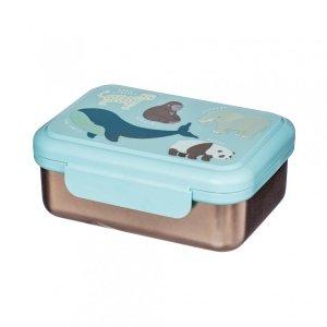 Sassandbell, metalowy lunch box, zagrożone zwierzęta