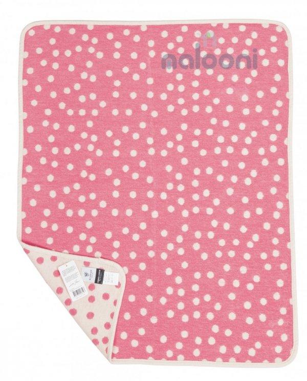 Klippan, pled z bawełny organicznej, Little pongo, 70x90cm, różowy