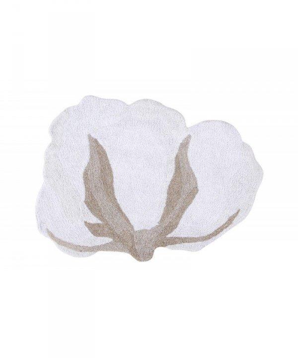 Lorena Canals, dywan bawełniany, kwiat bawełny, 120x130cm
