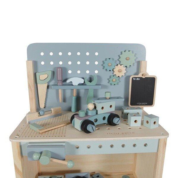 Little Dutch, drewniany warsztat z narzędziami