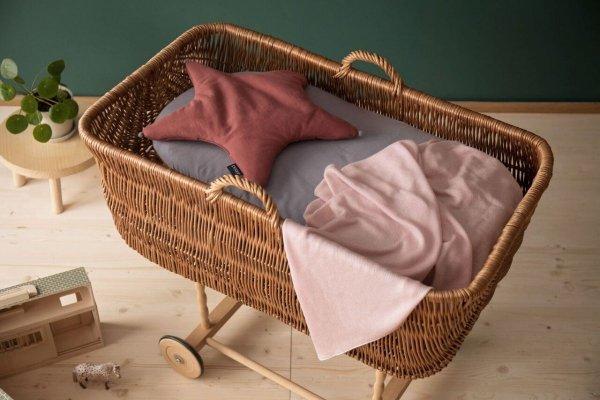Poofi, lekki kocyk bambusowy, różowy