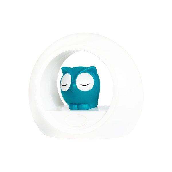 zazu, lampka sowa LOU niebieska, aktywowana dźwiękiem