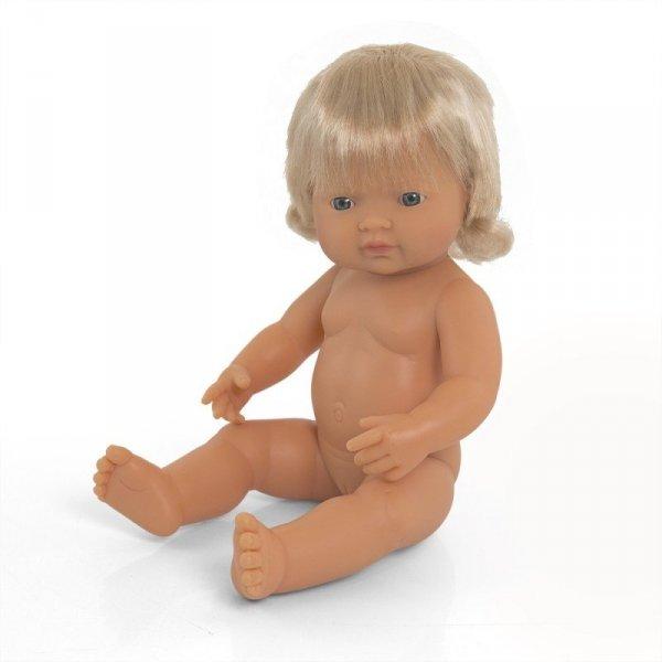 Miniland, lalka dziewczynka, Europejka, 38cm