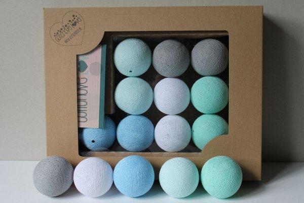 cotton balls mint pastel
