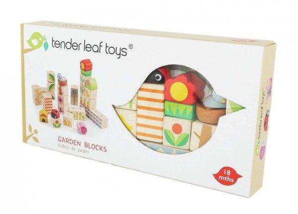 Tender Leaf Toys drewniane klocki, w ogrodzie, 24 elem.