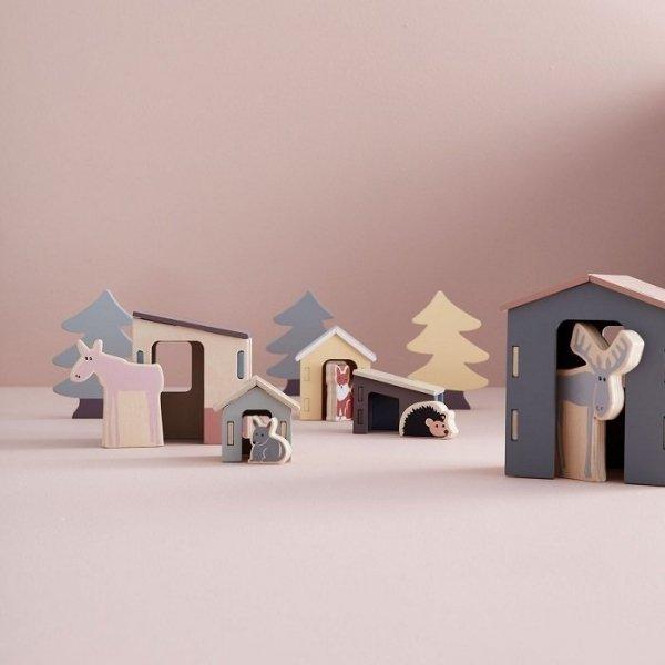 Kids concept, Edvin drewniane zwierzęta leśne