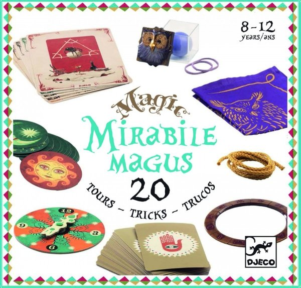Djeco, zestaw 20 magicznych sztuczek,