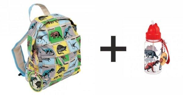 Rex london, komplet: plecak + bidon dinozaury