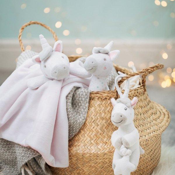 Sass and bell, komforter jednorożec, różowy