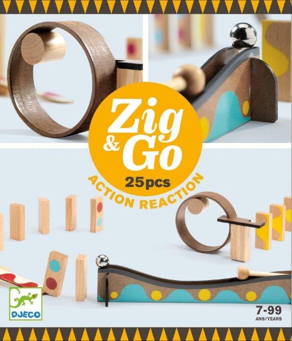 Djeco, zestaw edukacyjny, Zig & go, 25 elem
